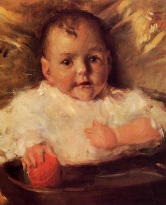 Chase William Merritt Bobbie A Portrait Sketch