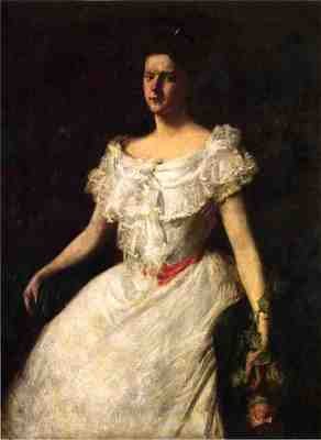 Chase William Merritt Portrait of a Lady with a Rose