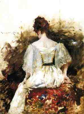Chase William Merritt Portrait of a Woman The White Dress