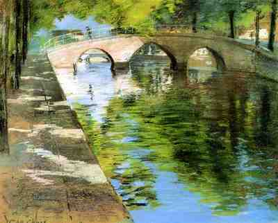 Chase William Merritt Reflections aka Canal Scene