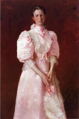 Chase William Merritt Study in Pink aka Portrait of Mrs  Robert P  McDougal