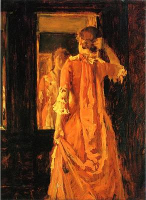 Chase William Merritt Young Woman Before a Mirror