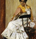 Chase William Merritt A Spanish Girl aka Portrait of Mrs  Chase in Spanish Dress