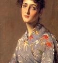 Chase William Merritt Girl in a Japanese Kimono