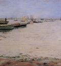 Chase William Merritt Gowanus Bay aka Misty Day Gowanus Bay