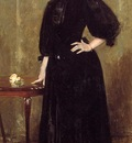 Chase William Merritt Lady in Black aka Mrs  Leslie Cotton