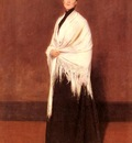 Chase William Merritt Portrait Of Mrs C SHAWL
