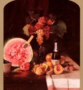 Chase William Merritt Still Life With Watermelon