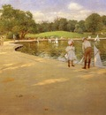 Chase William Merritt The Lake for Miniature Yachts aka Central Park