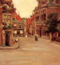 Chase William Merritt The Red Roofs of Haarlem aka A Street in Holland