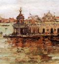 Chase William Merritt Venice View of the Navy Arsenal