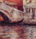 Gondolas Along Venetian Canal
