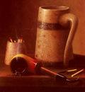 Harnett William M Still Life Pipe And Mug