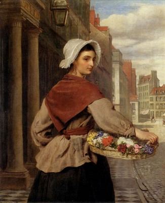 Frith William Powell The Flower Seller