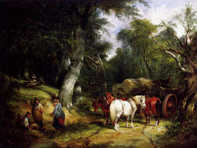 Shayer Sen William Carting Timber In The New Forest