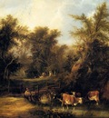 Shayer William Cattle By A Stream