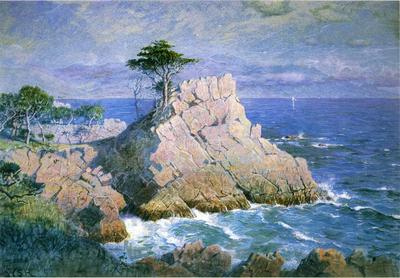 Haseltine William Stanley Midway Point California aka Cypress Point near Monterey