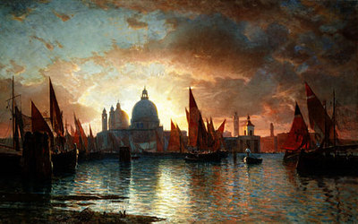 Haseltine William Stanley Santa Maria Della Salute Sunset