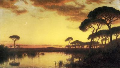 Haseltine William Stanley Sunset Glow Roman Campagna