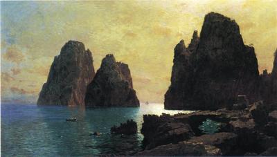 Haseltine William Stanley The Faraglioni Rocks