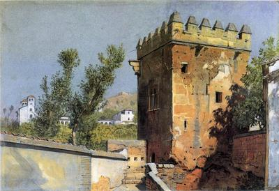 Haseltine William Stanley View from the Alhambra Spain