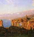 Haseltine William Stanley Ruins of the Roman Theatre at Taormina Sicily