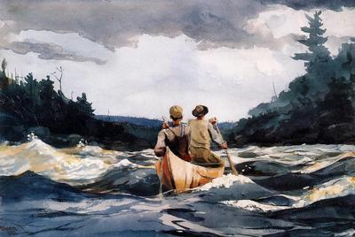 Homer Winslow Canoe in the Rapids