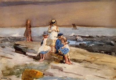 Homer Winslow Children on the Beach