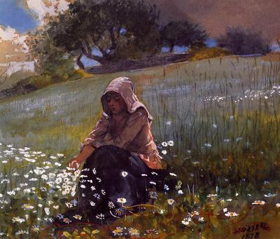 Homer Winslow Girl and Daisies