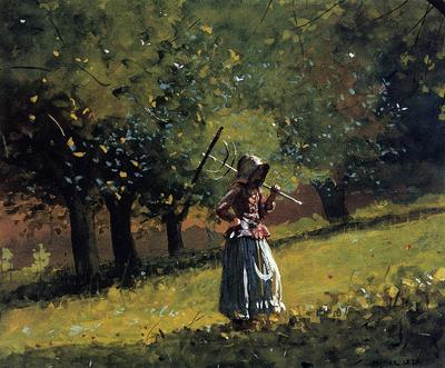 Homer Winslow Girl with a Hay Rake