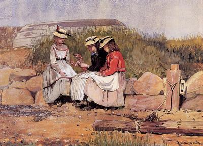 Homer Winslow Girls with Lobster aka A Fisherman s Daughter