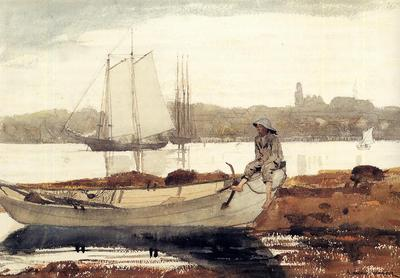 Homer Winslow Gloucester Harbor and Dory