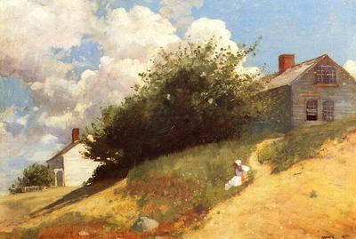 Homer Winslow Houses on a Hill