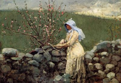 Homer Winslow Peach Blossoms2