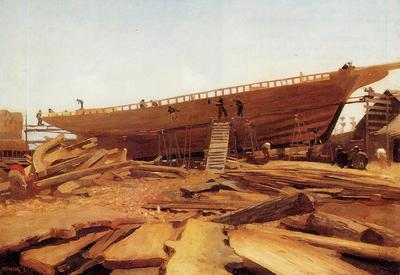 Homer Winslow Shipbuilding at Gloucester