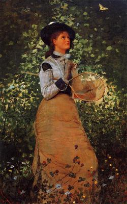 Homer Winslow The Butterfly Girl