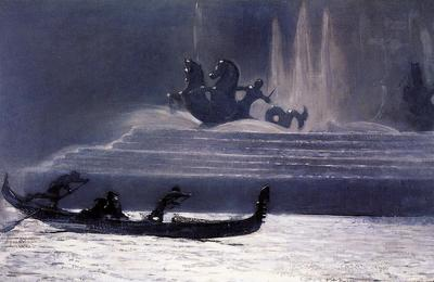Homer Winslow The Fountains at Night World s Columbian Exposition