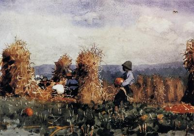 Homer Winslow The Pumpkin Patch