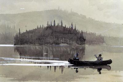 Homer Winslow Two Men in a Canoe