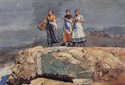 Homer Winslow Where are the Boats aka On the Cliffs