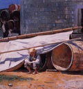 Homer Winslow Boy in a Boatyard aka Boy with Barrels