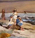 Homer Winslow Children on the Beach