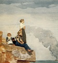 Homer Winslow Fisherman s Family aka The Lookout