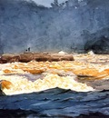 Homer Winslow Fishing the Rapids Saguenay