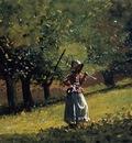 Homer Winslow Girl with a Hay Rake