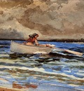 Homer Winslow Rowing at Prout s Neck