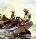Homer Winslow Sailing the Catboat