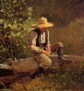 Homer Winslow The Whittling Boy