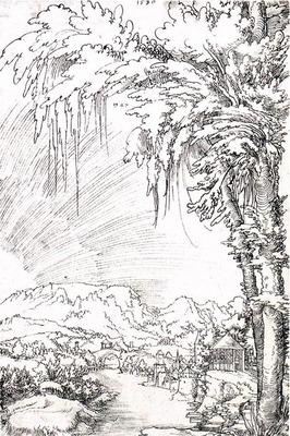 HUBER Wolf Landscape near Feldkirch