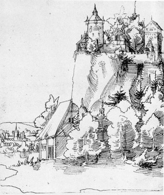 HUBER Wolf Landscape with Castle